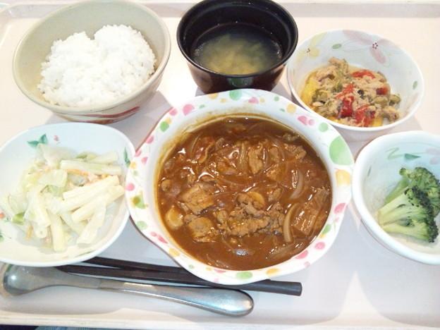 10月12日夕食(ハッシュドビーフ) #病院食