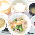 10月15日朝食(ウインナー入り野菜炒め) #病院食