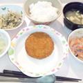 10月16日夕食(メンチカツ) #病院食