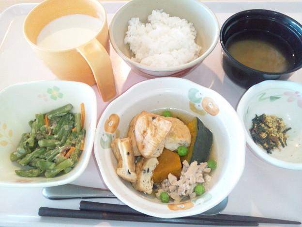 10月18日朝食(がんもの煮物) #病院食