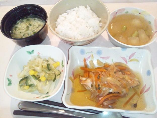 10月18日夕食(鮭の焼き南蛮漬け) #病院食