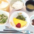 10月20日朝食(オムレツ) #病院食