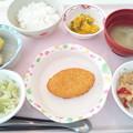 10月20日昼食(コーン入りコロッケ) #病院食