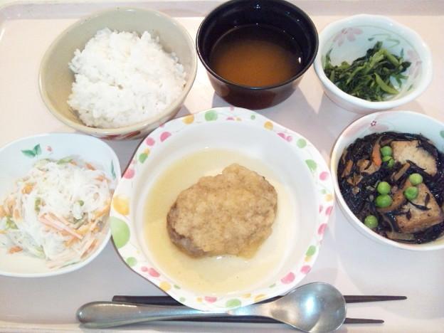10月20日夕食(和風おろしハンバーグ) #病院食
