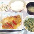 10月21日夕食(めだいの野菜あんかけ) #病院食
