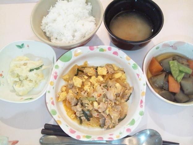 10月22日夕食(豚キムチ) #病院食