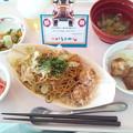 10月23日昼食(秋祭り屋台風献立) #病院食