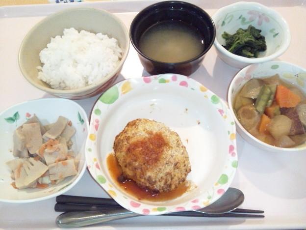 10月23日夕食(焼きコロッケ) #病院食