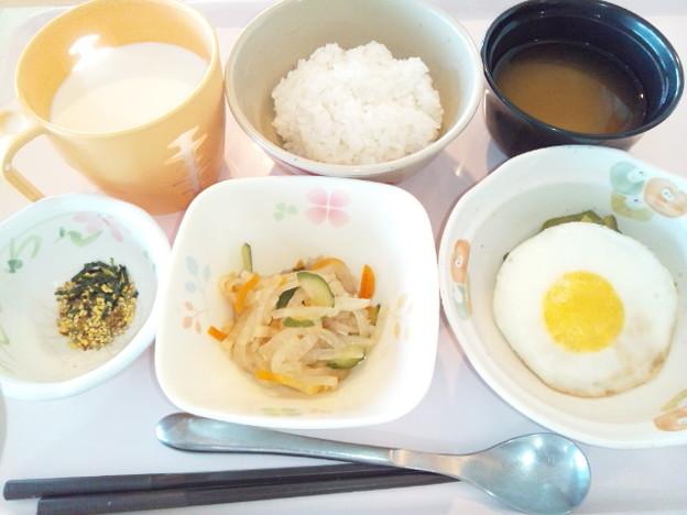 10月24日朝食(目玉焼き) #病院食