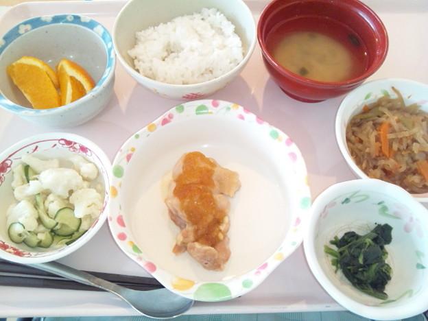 10月25日昼食(チキンソテーオニオンソース) #病院食