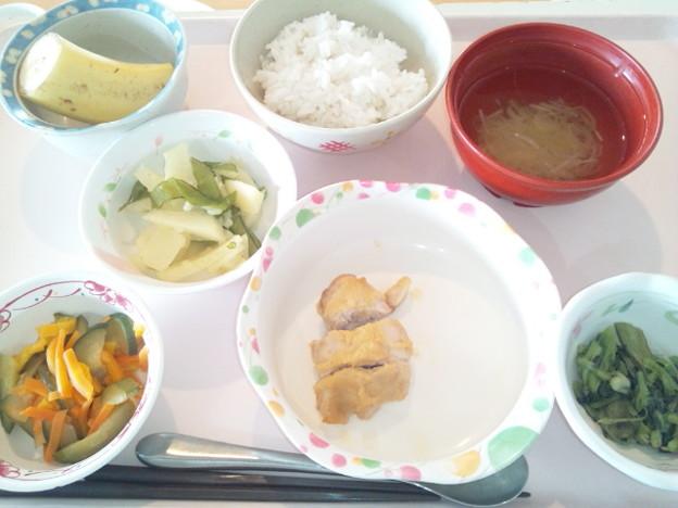 10月26日昼食(鶏の味噌マヨネーズ焼き) #病院食