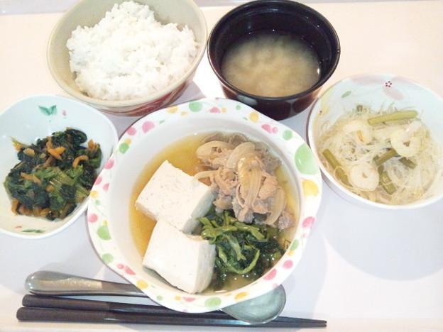 10月26日夕食(肉豆腐) #病院食