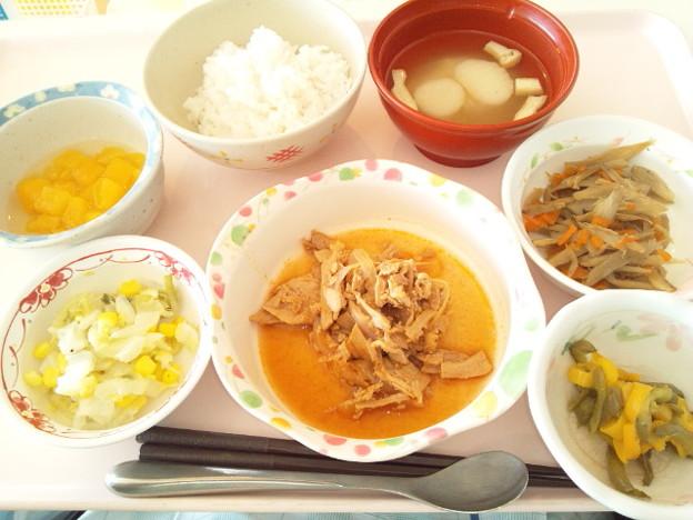 10月28日昼食(ポークチャップ) #病院食