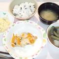 10月28日夕食(鶏の更紗蒸し) #病院食