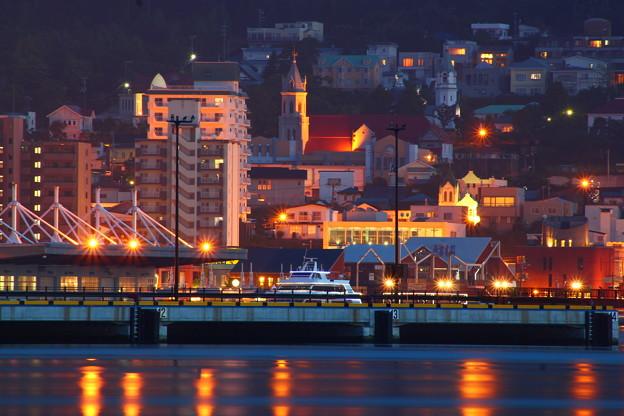 函館港 船だまり夜景