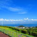 淡路島SAから明石海峡大橋を望む