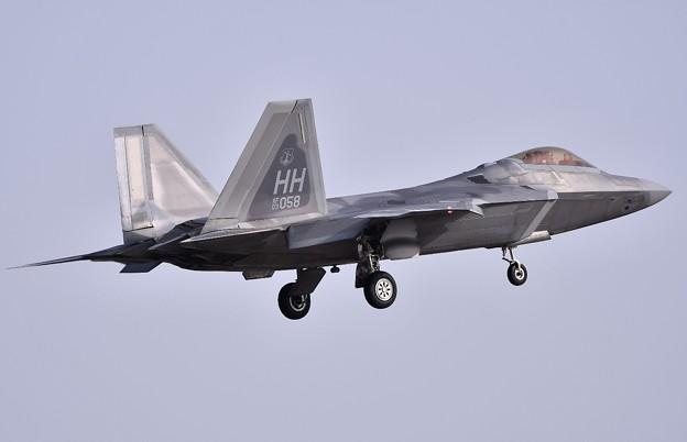岩国遠征 岩国基地へ帰投して来た米空軍ラプター