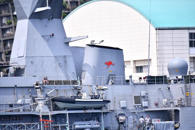 珍しい豪海軍のフリゲート艦バララット寄港(4)