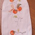 Photos: 柿を刺繍する