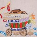祇園祭を刺繍する