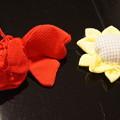 Photos: ちりめんで作る琴爪袋