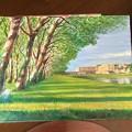 油絵 風景を描く