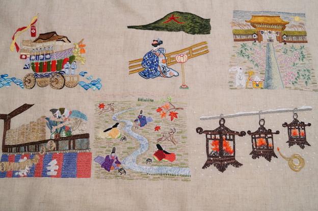 Photos: 7月から12月の年中行事を刺繍する