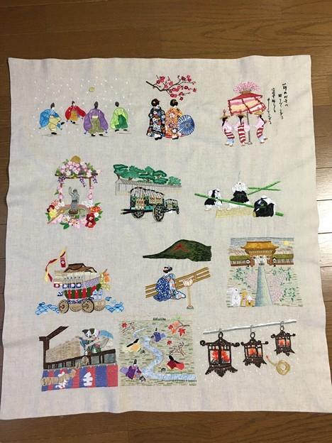 Photos: 京都の年中行事を刺繍する
