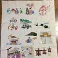 京都の年中行事を刺繍する