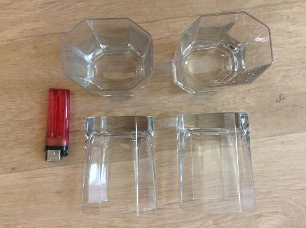 グラス 4個で3ユーロ