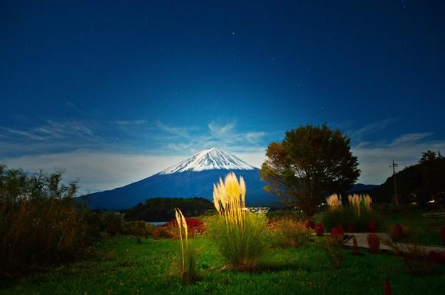 満月の晩に・・・富士を撮る