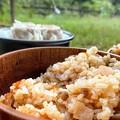 羽釜で松茸ご飯