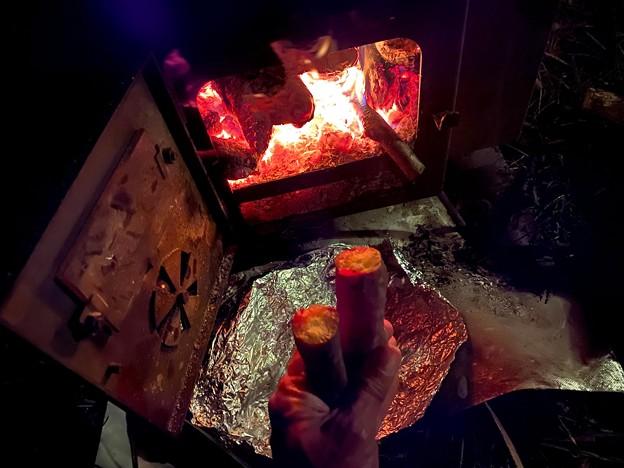 夜食の焼き芋