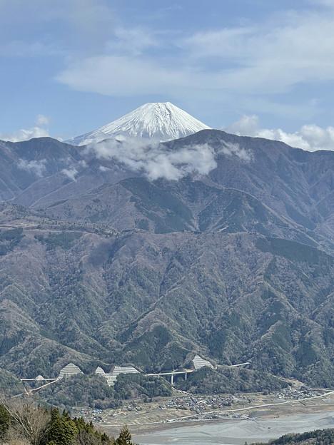 奥の院からの富士