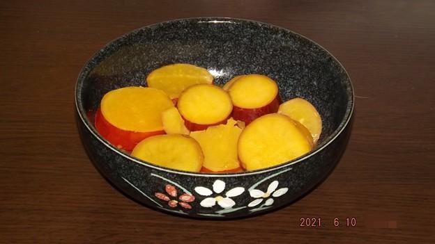 2021/06/10(木)・サツマイモのオレンジ煮