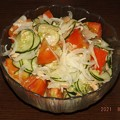 Photos: 2021/08/06(金)・白だしで簡単シーチキンとトマトと新玉ねぎと胡瓜和え