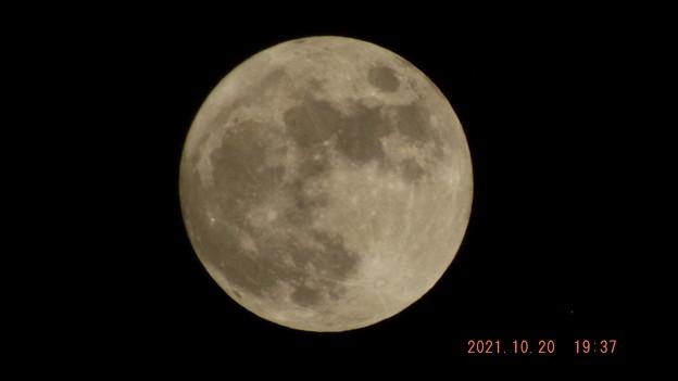 2021/10/20(水)・十五夜の満月のお月様