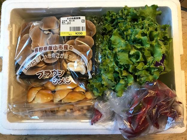 1010_道の駅で買った野菜を横浜の妹に