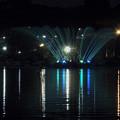 宵の涼気千波湖夜景