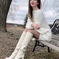 白いブーツ