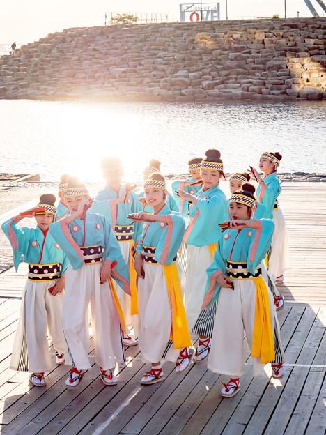 夕日を見る会 ゑ祭りキッズチーム daisy
