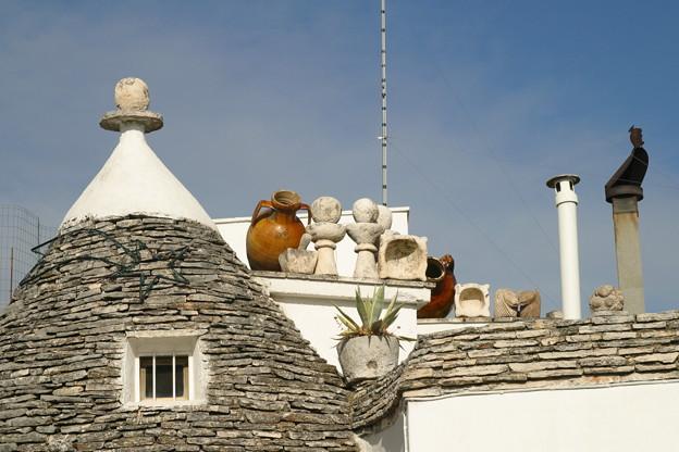 とんがり屋根の上