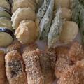 2021.8.3 鰺と鯛のフライ・夏野菜の天ぷら