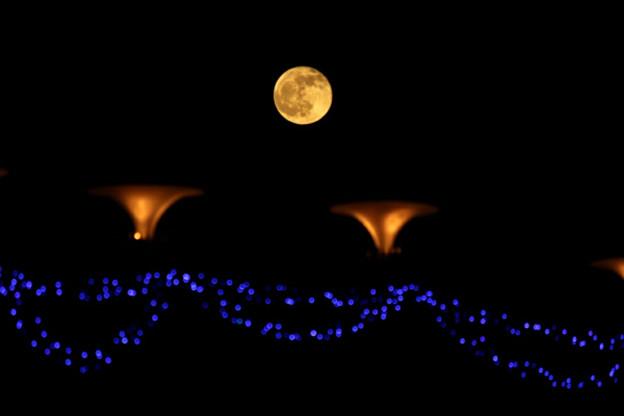 新都市広場の満月