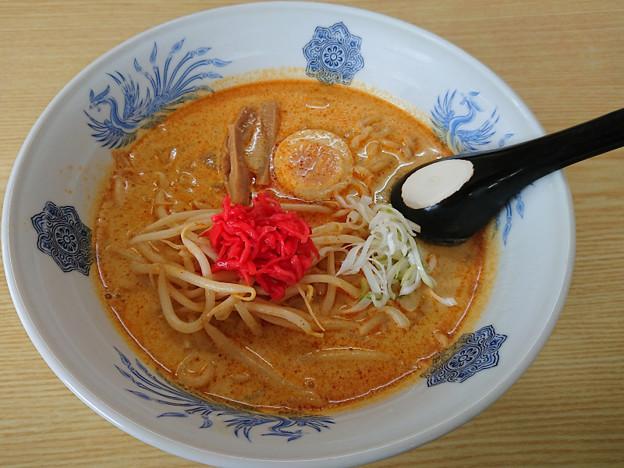 牛乳みそカレー味ラーメン ラーメン武蔵・常陸太田