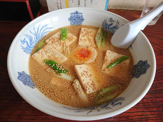 ごま味噌豆腐ラーメン ラーメン武蔵・常陸太田市