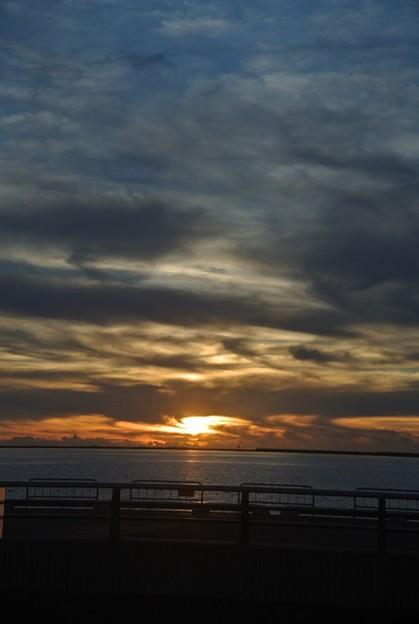 チービシに沈む夕陽
