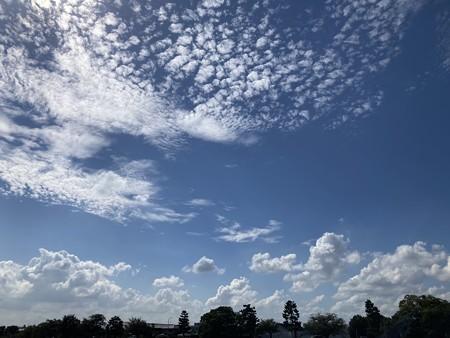 夏の雲、秋の雲