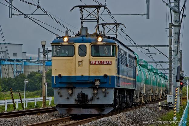 EF65 2086 石油専用列車