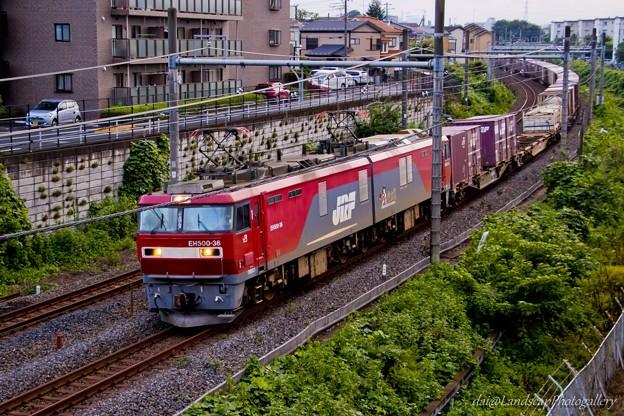 EH500-36 コンテナ列車